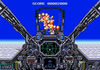 In-game screen of the game Air Diver on Sega Megadrive