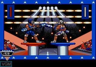 In-game screen of the game American Gladiators on Sega Megadrive