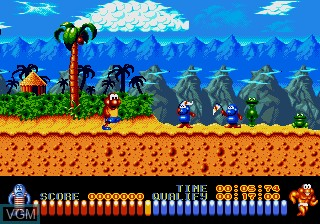 In-game screen of the game Aquatic Games - Starring James Pond, The on Sega Megadrive