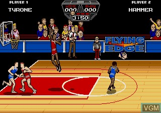 In-game screen of the game Arch Rivals on Sega Megadrive