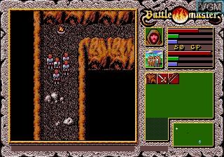 In-game screen of the game Battlemaster on Sega Megadrive