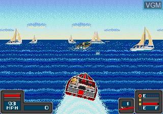 In-game screen of the game Bimini Run on Sega Megadrive