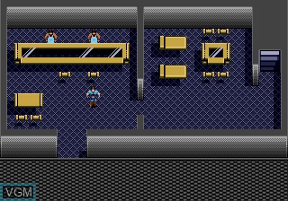 In-game screen of the game Blue Almanac on Sega Megadrive