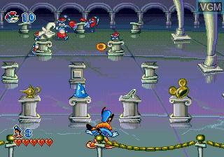 In-game screen of the game Bonkers on Sega Megadrive