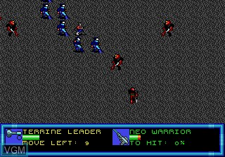 In-game screen of the game Buck Rogers - Countdown to Doomsday on Sega Megadrive