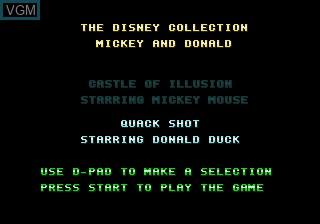 Disney Collection - Castle of Illusion & Quack Shot