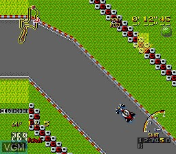 In-game screen of the game F1 Super License - Nakajima Satoru on Sega Megadrive