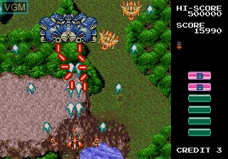 In-game screen of the game GRIND Stormer on Sega Megadrive