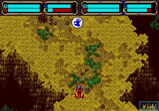 In-game screen of the game Herzog Zwei on Sega Megadrive