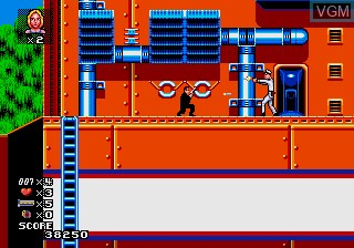 In-game screen of the game James Bond 007 - The Duel on Sega Megadrive