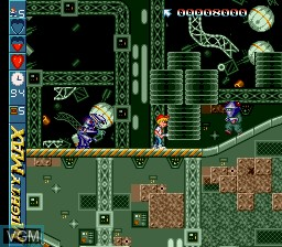 In-game screen of the game Adventures of Mighty Max, The on Sega Megadrive