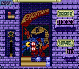 In-game screen of the game Pac-Attack on Sega Megadrive