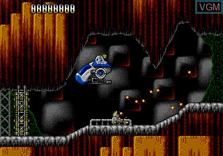 In-game screen of the game Resq on Sega Megadrive