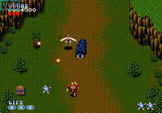 In-game screen of the game Undead Line on Sega Megadrive