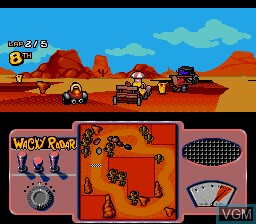 In-game screen of the game Wacky Races on Sega Megadrive