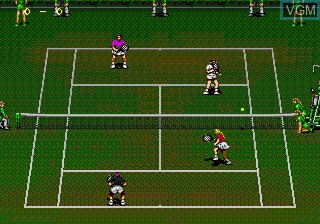 In-game screen of the game Wimbledon Championship Tennis on Sega Megadrive