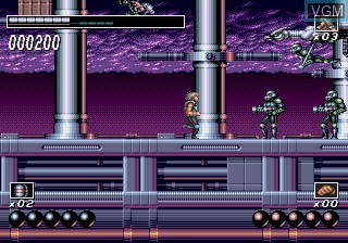 In-game screen of the game Wolf Child on Sega Megadrive