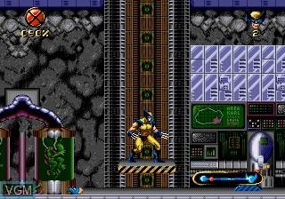 In-game screen of the game Wolverine Adamantium Rage on Sega Megadrive