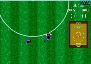 In-game screen of the game World Championship Soccer on Sega Megadrive