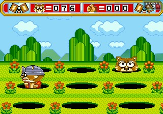 In-game screen of the game Whac-A-Critter on Sega Megadrive