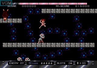 In-game screen of the game 16 Ton on Sega Megadrive