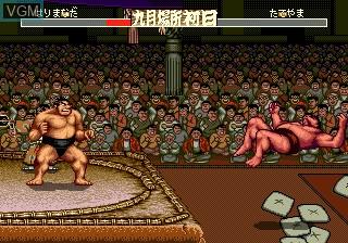 In-game screen of the game Aah! Harimanada on Sega Megadrive