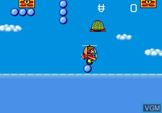 In-game screen of the game Alex Kidd in the Enchanted Castle on Sega Megadrive