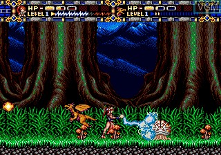 In-game screen of the game Alisia Dragoon on Sega Megadrive