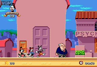 In-game screen of the game Animaniacs on Sega Megadrive