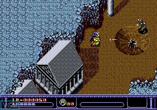In-game screen of the game Arcus Odyssey on Sega Megadrive