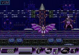 In-game screen of the game Batman Returns on Sega Megadrive