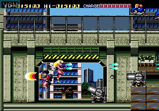 In-game screen of the game Battle Mania on Sega Megadrive