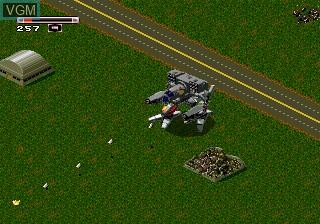 In-game screen of the game Battletech on Sega Megadrive