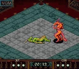 In-game screen of the game Beast Wrestler on Sega Megadrive