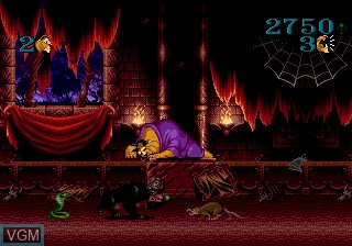 In-game screen of the game Beauty and the Beast - Roar of the Beast on Sega Megadrive