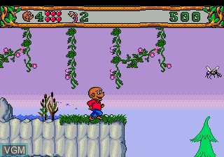 In-game screen of the game Berenstain Bears', The - Camping Adventure on Sega Megadrive