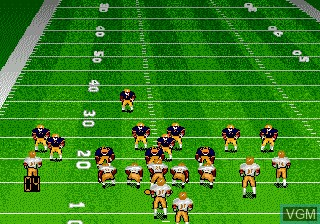 In-game screen of the game Bill Walsh College Football on Sega Megadrive
