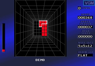 In-game screen of the game Block Out on Sega Megadrive