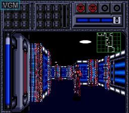 In-game screen of the game Blood Shot on Sega Megadrive
