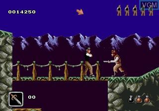 In-game screen of the game Bram Stoker's Dracula on Sega Megadrive