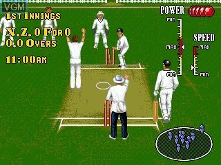 In-game screen of the game Brian Lara Cricket on Sega Megadrive
