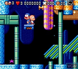 In-game screen of the game Bubble and Squeak on Sega Megadrive