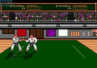 In-game screen of the game Budokan - The Martial Spirit on Sega Megadrive