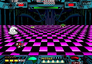 In-game screen of the game Burning Force on Sega Megadrive
