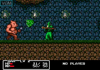In-game screen of the game Cadash on Sega Megadrive