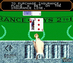 In-game screen of the game Caesars Palace on Sega Megadrive