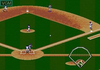 In-game screen of the game Cal Ripken Jr. Baseball on Sega Megadrive