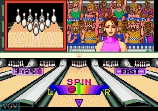 In-game screen of the game Championship Bowling on Sega Megadrive