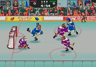 In-game screen of the game Hit The Ice on Sega Megadrive