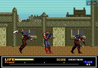 In-game screen of the game Last Battle on Sega Megadrive